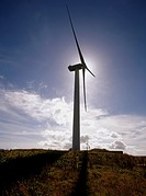 Wind Turbine ELECTRICITY ENERGY Nordex Wind power turbine Burgar Hill Evie Orkney