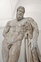 Farnese Hercules statue. National Archaeological Museum. Naples. Italy