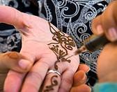 Henna tattoo  Morocco