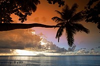 Sunset at Beau Vallon Beach, Mahe Island, Seychelles