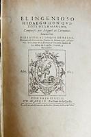 Don Quixote first edition