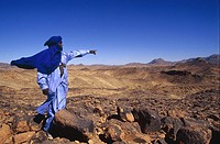 Tuareg in rocky vastness of Aïr,Niger,Western Africa