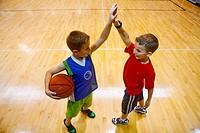 high five after basketball