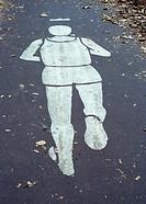 Jogging symbol in Central Park, NY