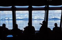 Norway, Nordland, Harstad region, On board Coastal Steamer Richard With
