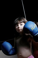 Boy as a boxer