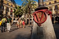 Plaza Real, Barrio Gotico, Barcelona.