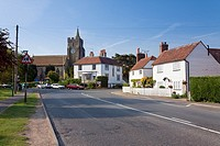 England Kent Rolvenden High Street with St  Mary the Virgin Church