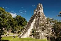 Temple 1 also know as the Jaguar Temple, Tikal National Park, Peten, Guatemala