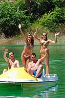 Youth group having fun