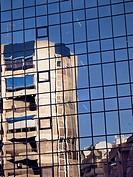 Mirror image of a building  Alicante  Valencia  Spain  Europe