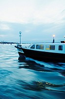 Italy, Venice, Laguna, Islands, the world of the vaporetto, night on the channel with vaporetto.