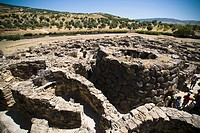 Nuraghi village in Barumini, Sardinia
