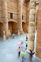 interior view of the National Museum of Roman Art in Merida, Badajoz, Extremadura, Spain