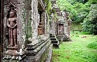 detail in the temple of Wat Phu