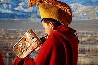 Buddhist monks, Thiksey, Ladakh, Jammu and Kashmir, India