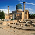 Gur Emir, Gur- Amir, Guri Amir mausoleum, grave of Timur, Temur, Tamerlane, Samarkand, Silk Road, Uzbekistan, Central Asia