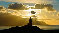 Lighthouse at Sunset  Iceland