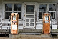 old gas station on the Outer Banks, in NC, USA