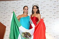Ximena Navarrete and Lupita John celebrating the triumph of Miss Universe at the Mandalay Bay Hotel, Las Vegas, Nevada, USA