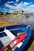 Boats in port. Langostero de Islares, Castro Urdiales, Cantabria, Spain.
