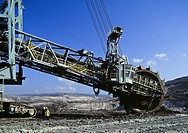 Excavation Machine  Open Field Coal Mine  Galicia  Spain.