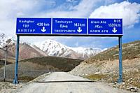 The border road to Tashuryan and Kashgar in China, Karakorum, Pakistan