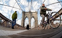 New York City, brooklyn Bridge , manhattan