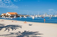 Club Nautico Marina and Beach at Los Alcazares, Murcia, Costa Calida, South East Spain