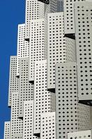 Windows of geriatric hospital, Centre Sociosanitari Putget Dolors Aleu, Marques de Santa Anna 9, Barcelona, Catalonia, Spain