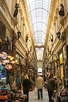 Shops in the European Passage, Cicek Pasaji, Beyoglu District, Istanbul, Turkey