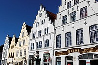 Historical Houses at Market Place / Friedrichstadt / Schleswig-Holstein / Germany