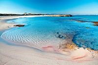 A paradisiac beach in the area of Illetas in Formentera, a mediterranean island of Spain