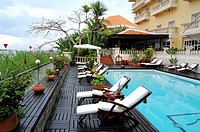 Vietnam, An Giang Province, Mekong Delta region, Chau Doc Hotel Victoria.