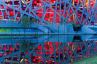 Bird´s Nest National Stadium by architects Herzog and De Meuron, 2008, Olympic Green, Beijing, China, Asia