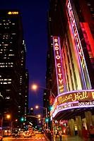 Radio City Music Hall in Midtown Manhattan New York City