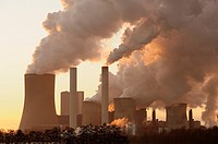 Coal fired power station, Niederaussem, North Rhine-Westphalia, Germany, Europe