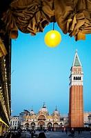 Basilica San Marco and The Campanile  St  Marks Square, Venice, Veneto, Italy