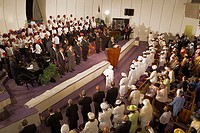 Harlem Mass,Gospel at Greater Refuge Temple Church,New York City, USA