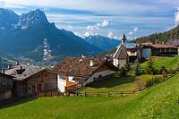 Pozza Di Fassa towards Cima Dodici, Dolomites, Trentino-Alto Adige, Italy, Europe