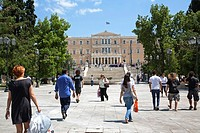 Syntagma Square  Parliament and Monument of the Unknown Soldier, Athens Greece