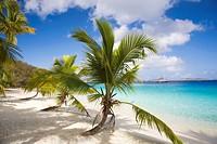 Salomon Beach in the Virgin Islands National Park on the Caribbean Island of St John in the US Virgin Islands