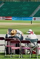 A very English scene at Cheltenham´s cricket ground, Gloucestershire, UK