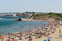 The beach at Sant Marti d´Empuries, Costa Brava, Catalonia, Spain