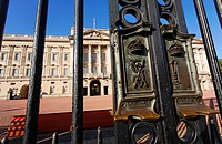 The gates of Buckingham Palace, London, UK