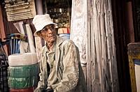 older man in hardware, Marrakech, Morocco