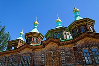 Kyrgyzstan - Karakol - the Russian Orthodox Holy Trinity Cathedral