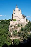 crellated tower in the Alcazar of Segovia, Castilla Leon, Spain
