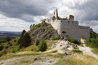 The ruins of medieval castle Cachtice, Male Karpaty, Slovakia