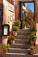 Typical architecture Oia Santorini Cyclades Islands Greece